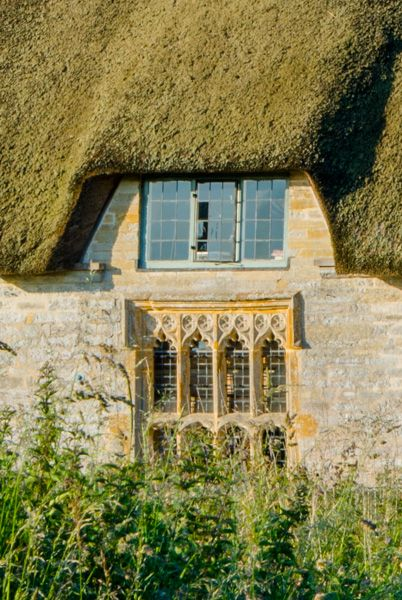 Muchelney Priest's House photo, Medieval window at the rear of the cottage