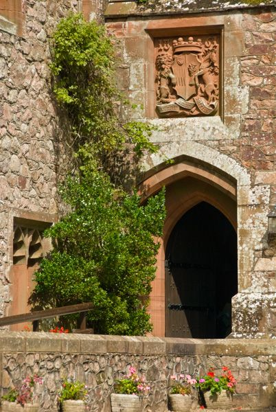 Muncaster Castle photo, The main castle entrance