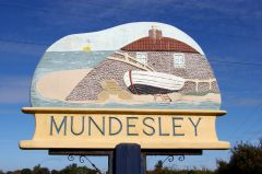 Mundesley village sign (c) Christine Matthews