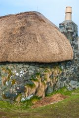 Skye Museum of Island Life, A cottage end wall and chimney