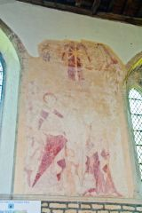 Nassington, St Mary & All Saints Church, St Martin of Tours wall painting