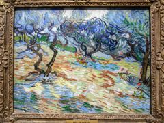 Olive trees, 1889, by Vincent Van Gogh