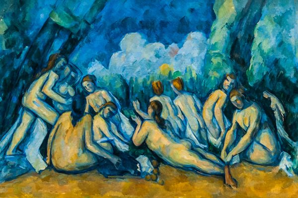 National Gallery photo, Bathers (Les Grandes Baigneuses) Bathers (Les Grandes Baigneuses), by Paul Cezanne, c. 1894-1905