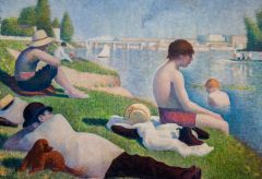 National Gallery, George Seurat, Bathers at Asnieres