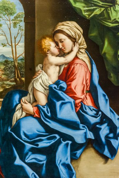 National Gallery photo, The Virgin and Child Embracing, by Sassoferrato, c. 1680