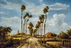 National Gallery, The Avenue at Middelharnis, by Meindert Hobbema, 1689