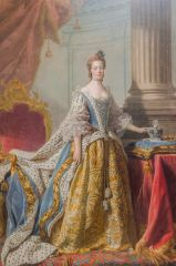 Queen Charlotte in Coronation Robes, by Allan Ramsay