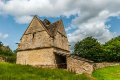 Naunton, The Dovecote from below