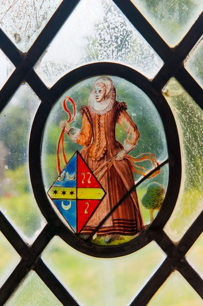 Nether Winchendon, St Nicholas Church photo, 17th century glass roundel