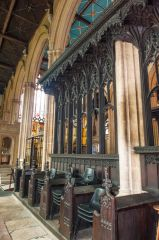 Beautifully carved choir stalls