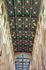 The painted nave ceiling
