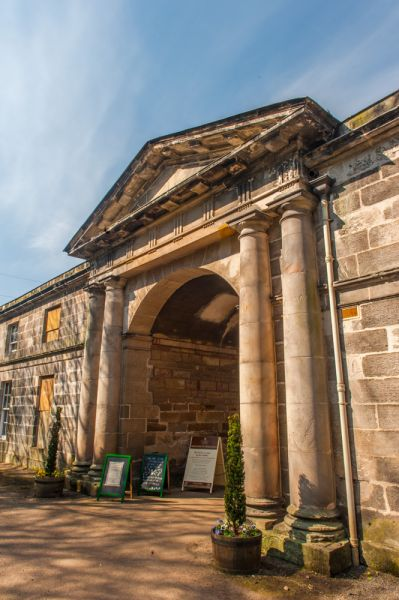 Newhailes photo, Neoclassical entrance to the stable block