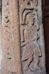 Figure of a warrior on a Saxon cross shaft