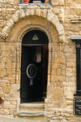 The Romanesque doorway to Norman House