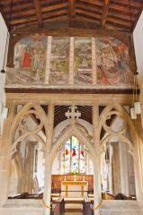 Chancel arch and Doom painting