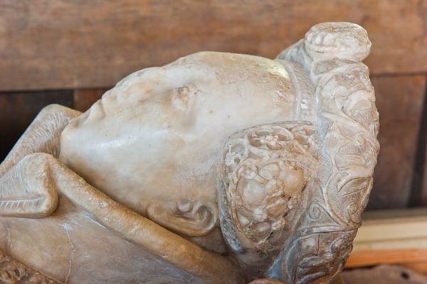 North Leigh, St Mary's Church photo, Lady Elizabeth Blackett effigy
