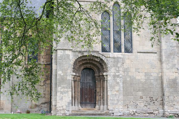 North Newbald, St Nicholas' Church photo, South west door