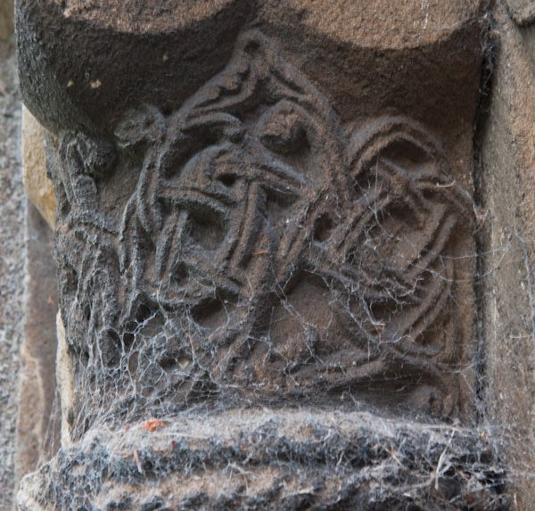 North Newbald, St Nicholas' Church photo, Carved capital, transept doorway
