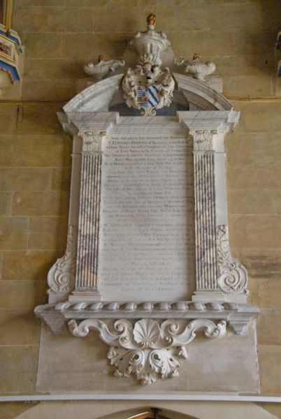 Northiam, St Mary photo, Frewen Chapel memorial