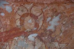 Northmoor, St Denys Church, Wall painting detail
