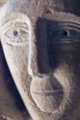 Northmoor, St Denys Church, Carved medieval corbel head