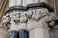 Frosterley marble columns