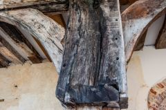 Original medieval timbers revealed