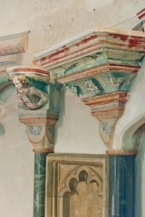 Jesus Chapel painted capitals