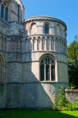 The apse exterior