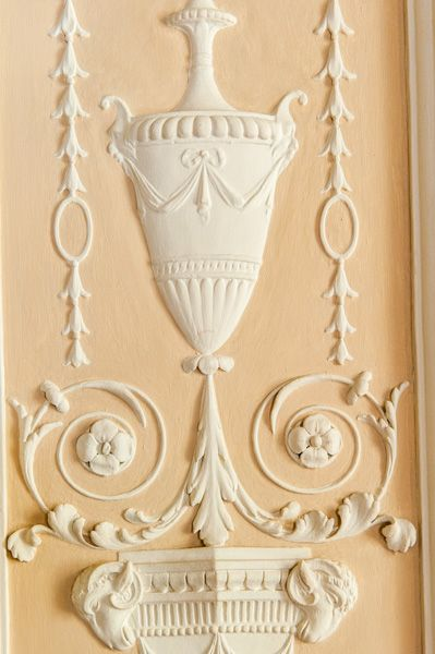 Nostell Priory photo, Robert Adam plasterwork detail