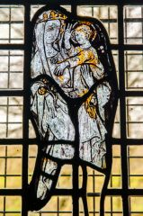 Notgrove, St Bartholomew's Church, AD 1300 glass in the vestry