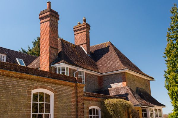 Nuffield Place photo, A jumbled roofline and chimneys