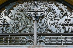 Nuneham Courtenay, All Saints Old Church, Ironwork detail