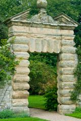 Nunnington Hall, A rusticated arch in the gardens