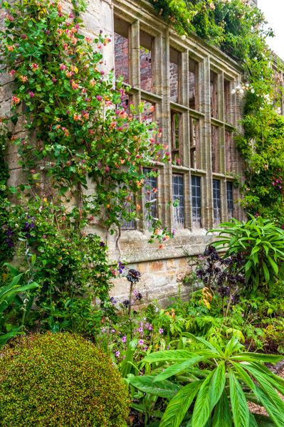 Nymans photo, Ruined mansion walls as a garden feature