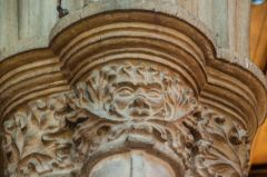 Oakham, All Saints Church, Green Man column capital