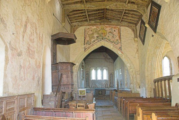 Oddington St Nicholas Church Doom Wall Paintings