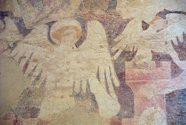 Oddington St Nicholas Church Doom Wall Paintings