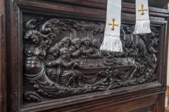 Offwell, St Mary's Church, 16th century Flemish reredos