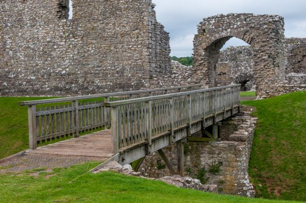 Ogmore Castle photo, Bridge across the ringwork ditch
