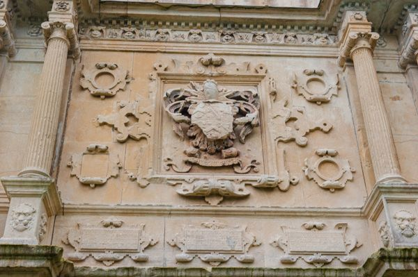Old Beaupre Castle photo, Carving detail on the Renaissance gatehouse