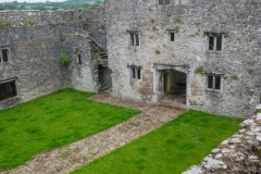 The outer courtyard from the wall walk