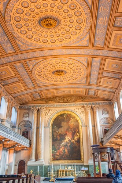 Old Royal Naval College Greenwich photo, The Chapel interior