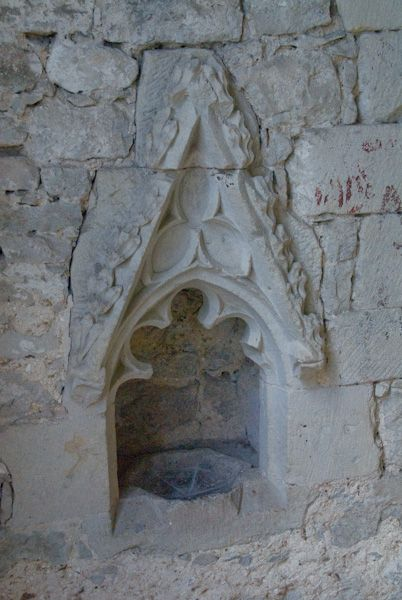 Old Soar Manor photo, 14th century piscina