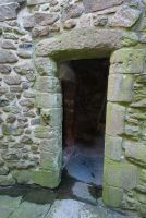 Orchardton Tower, Entrance doorway
