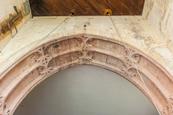 Orcheston, St George's Church photo, Early English tower vaulted arch