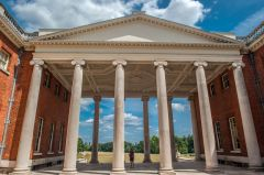 Osterley Park, The classical front portico