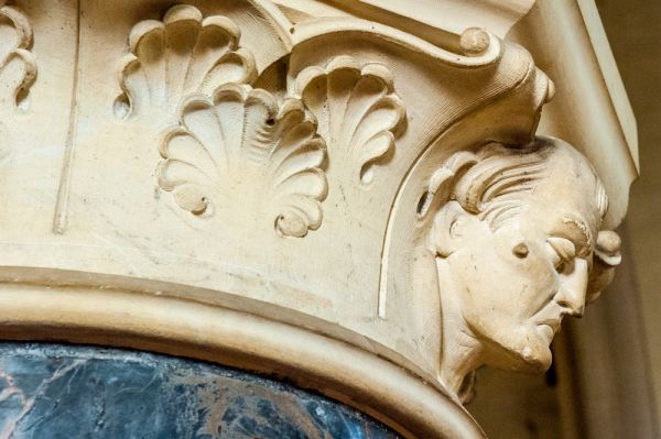 Otterton, St Michael's Church photo, A beautifully carved nave capital