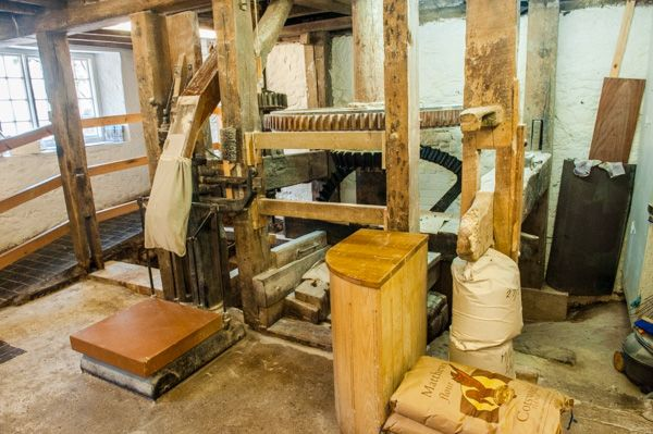 Otterton Mill photo, Bags of flour being filled