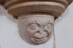 Corbel head carving 2